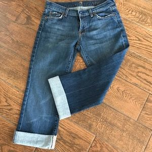 7 for all mankind cropped jeans size 30